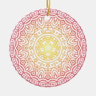 Ornement chaud coloré de cercle de mandala de