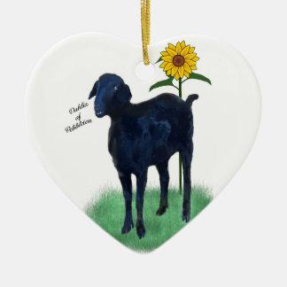 Ornement : Chèvres peintes différentes d'avant et