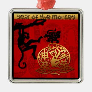 Ornement chinois de zodiaque d'année de singe