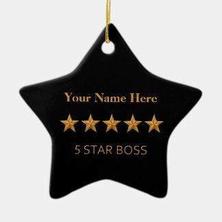 Ornement cinq étoiles d'étoile de Noël du patron