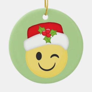 Ornement clignotant mignon de vacances d'Emoji de