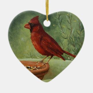 Ornement Cœur En Céramique 0487 cardinal Onament