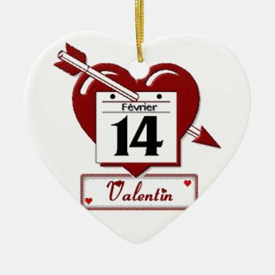 Ornement Cœur En Céramique 14 february : feast of love -