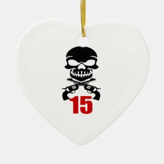 Ornement Cœur En Céramique 15 conceptions d'anniversaire