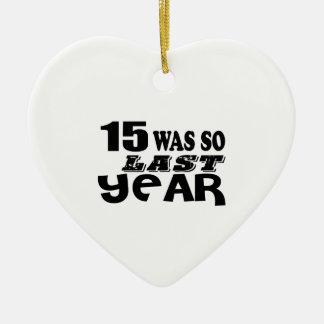 Ornement Cœur En Céramique 15 étaient ainsi ainsi l'année dernière les
