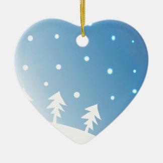 Ornement Cœur En Céramique 15sky