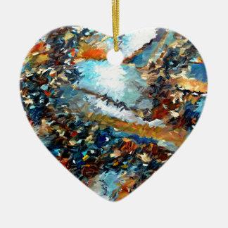 Ornement Cœur En Céramique Abrégé sur Geode d'agate