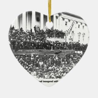 Ornement Cœur En Céramique Adresse en second lieu inaugurale Washingto