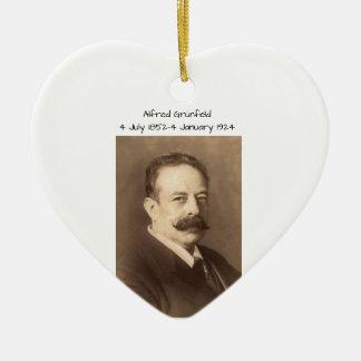 Ornement Cœur En Céramique Alfred Grunfeld