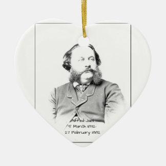 Ornement Cœur En Céramique Alfred Jaell
