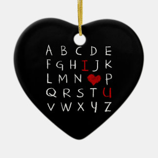 Ornement Cœur En Céramique Alphabet d'amour