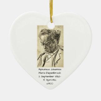 Ornement Cœur En Céramique Alphons Johannes Maria Diepenbrock 1900