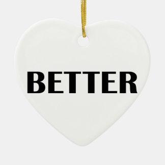 Ornement Cœur En Céramique Améliorez ensemble 1