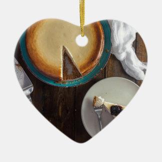 Ornement Cœur En Céramique Amour Cheescake de paix