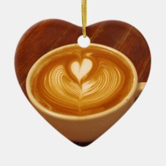 Ornement Cœur En Céramique Amour de café