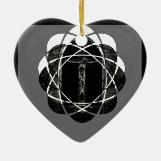 Ornement Cœur En Céramique amour de crucifixion
