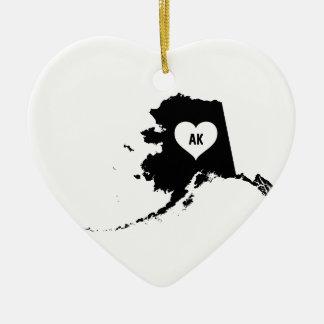 Ornement Cœur En Céramique Amour de l'Alaska