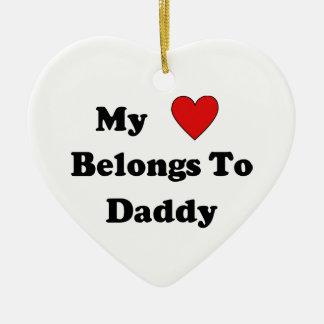 Ornement Cœur En Céramique Amour de papa