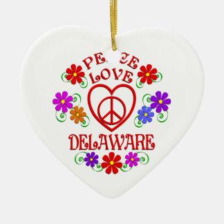 Ornement Cœur En Céramique Amour Delaware de paix