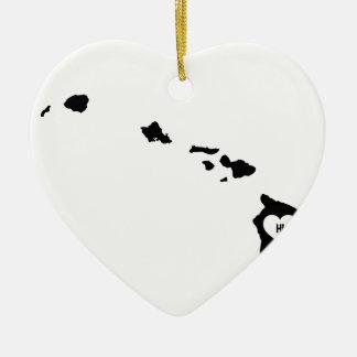 Ornement Cœur En Céramique Amour d'Hawaï