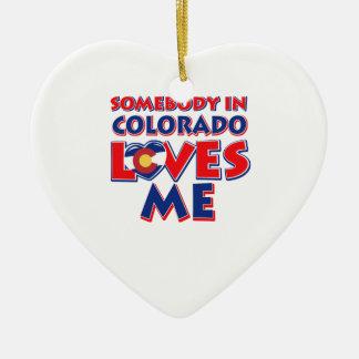 Ornement Cœur En Céramique amour du Colorado