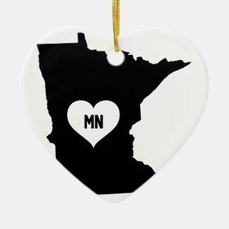 Ornement Cœur En Céramique Amour du Minnesota