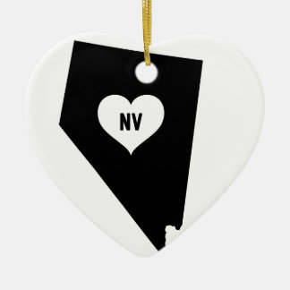 Ornement Cœur En Céramique Amour du Nevada