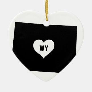 Ornement Cœur En Céramique Amour du Wyoming