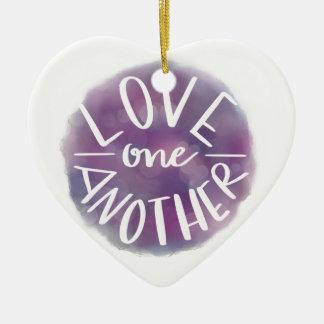 Ornement Cœur En Céramique Amour Main-En lettres un un autre de Bokeh