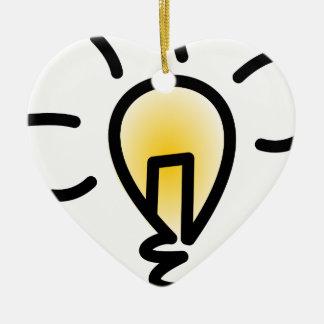 Ornement Cœur En Céramique Ampoule