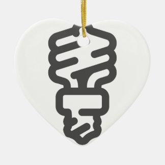Ornement Cœur En Céramique Ampoule d'Eco