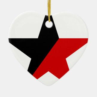 Ornement Cœur En Céramique Anarchisme noir et rouge d'Anarcho-Syndicalisme