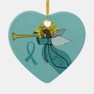 Ornement Cœur En Céramique Ange d'ornement de Noël d'espoir