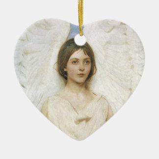 Ornement Cœur En Céramique Ange par Abbott Thayer, beaux-arts victoriens