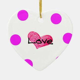 Ornement Cœur En Céramique Anglais de conception d'amour
