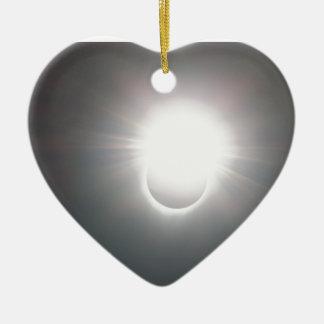 Ornement Cœur En Céramique Anneau lumineux