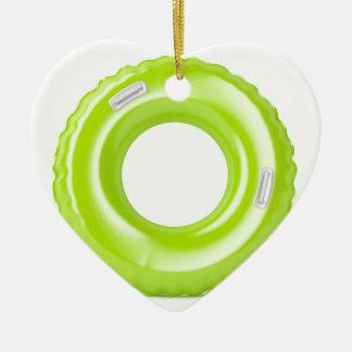 Ornement Cœur En Céramique Anneau vert de bain