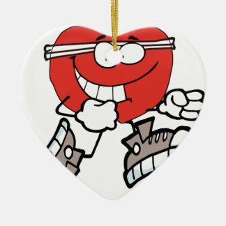 Ornement Cœur En Céramique apple3 fonctionnant