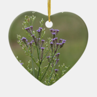 Ornement Cœur En Céramique Appréciez le poème simple de fleurs sauvages de
