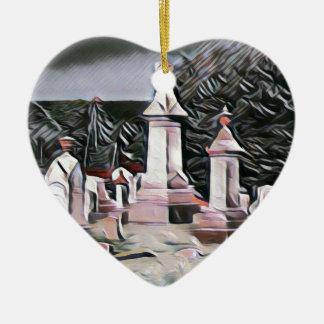 Ornement Cœur En Céramique Approvisionnements de partie de DÉCHIRURE de