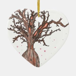 Ornement Cœur En Céramique Arbre humain de Sakura