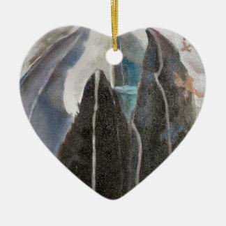Ornement Cœur En Céramique Arbres de montagne