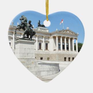 Ornement Cœur En Céramique Architecture à Vienne, Autriche