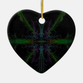 Ornement Cœur En Céramique Arrière - plan géométrique