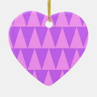 Ornement Cœur En Céramique Arrière - plan rose de pourpre de triangles