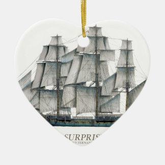 Ornement Cœur En Céramique Art 1796 de surprise de voie HMP