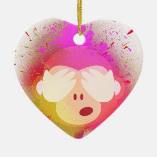 Ornement Cœur En Céramique Art créatif superbe de peinture de jet d'Emoji de