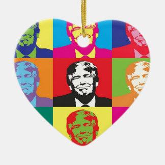Ornement Cœur En Céramique Art de bruit de Donald Trump