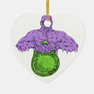 Ornement Cœur En Céramique Art de levage de crasse de Bell de bouilloire