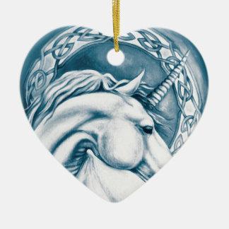 Ornement Cœur En Céramique Art de licorne